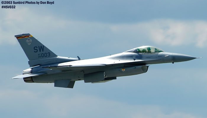 USAF F-16 AF98-0003 from Shaw AFB military aviation air show stock photo #3715
