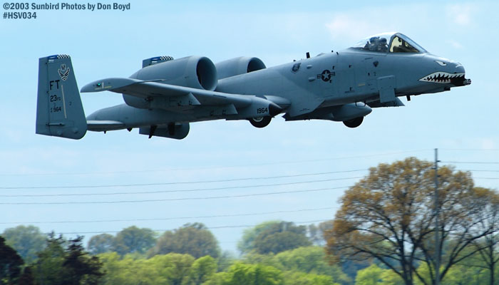 USAF A-10A Thunderbolt II AF81-964 from Pope AFB military aviation air show stock photo #3718
