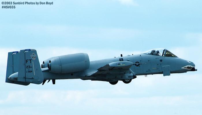 USAF A-10A Thunderbolt II AF81-964 military aviation air show stock photo #3720