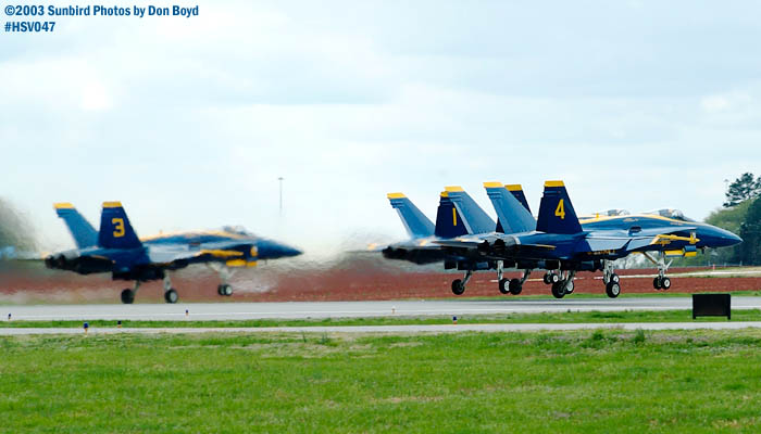 USN Blue Angels F/A-18 Hornet formation takeoff military aviation air show stock photo #3733