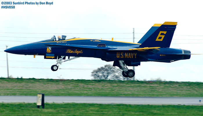 USN Blue Angels F/A-18 Hornet #6 military aviation air show stock photo #3736