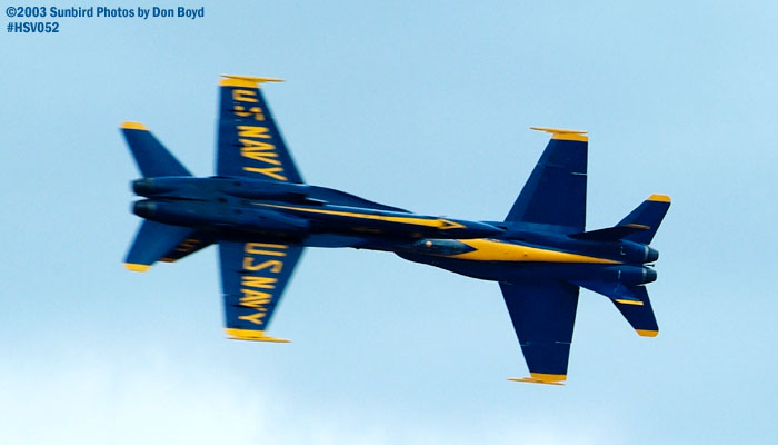 USN Blue Angels F/A-18 Hornets military aviation air show stock photo #3738