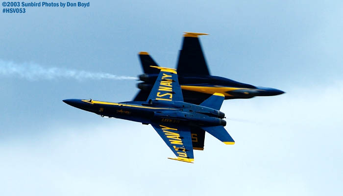 USN Blue Angels F/A-18 Hornets military aviation air show stock photo #3739