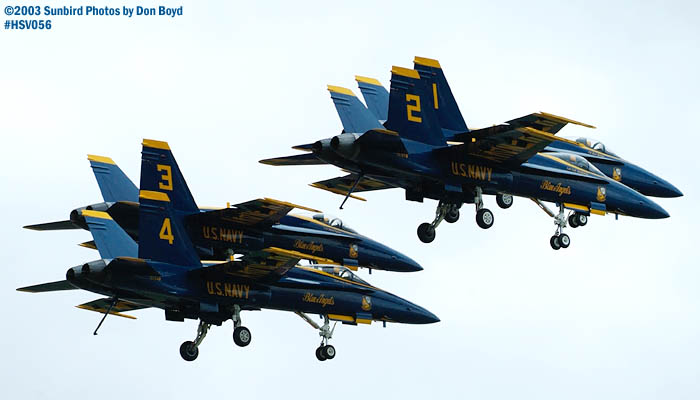 USN Blue Angels F/A-18 Hornets military aviation air show stock photo #3742