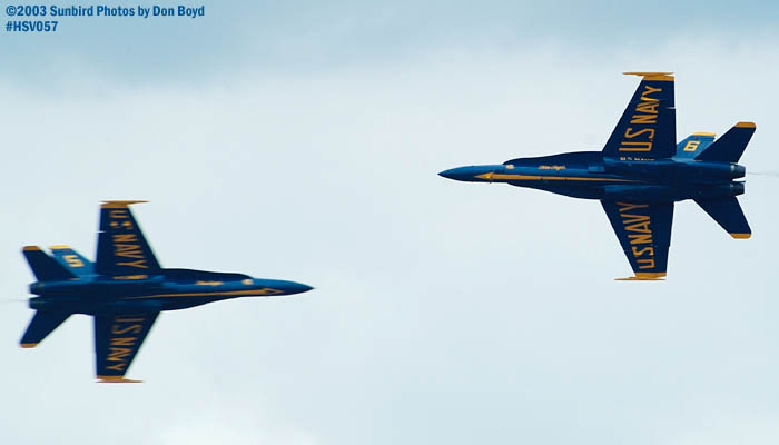 USN Blue Angels F/A-18 Hornets military aviation air show stock photo #3743