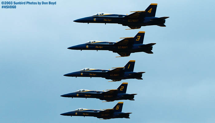 USN Blue Angels F/A-18 Hornets military aviation air show stock photo #3748