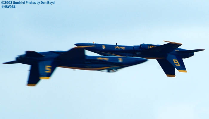 USN Blue Angels F/A-18 Hornets military aviation air show stock photo #3749