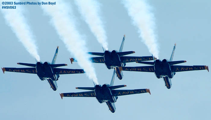 USN Blue Angels F/A-18 Hornets military aviation air show stock photo #3753
