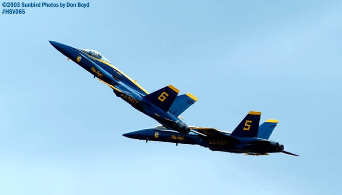 USN Blue Angels F/A-18 Hornets military aviation air show stock photo #3755