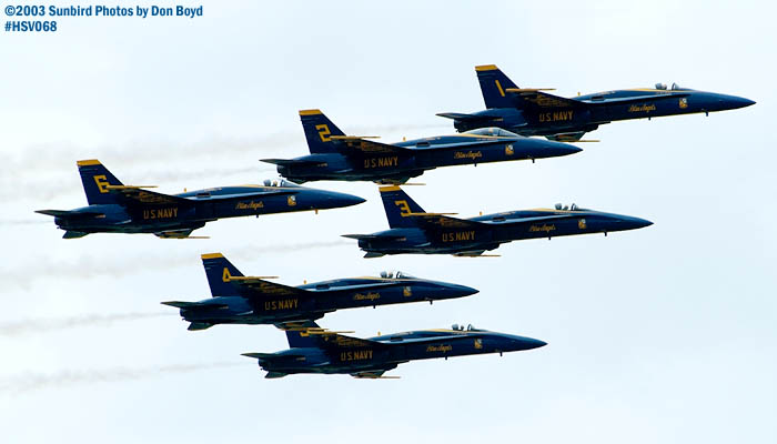 USN Blue Angels F/A-18 Hornets military aviation air show stock photo #3759