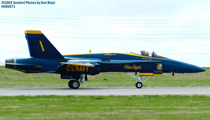 USN Blue Angels F/A-18 Hornet  #1 military aviation air show stock photo #3763