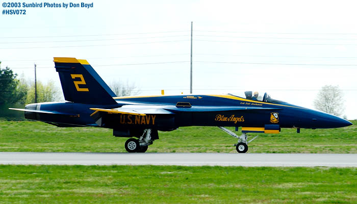 USN Blue Angels F/A-18 Hornet #2 military aviation air show stock photo #3764