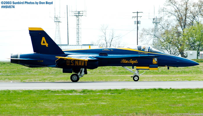 USN Blue Angels F/A-18 Hornet #4 military aviation air show stock photo #3766