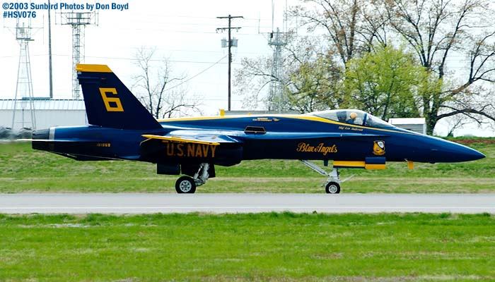 USN Blue Angels F/A-18 Hornet #6 military aviation air show stock photo #3769