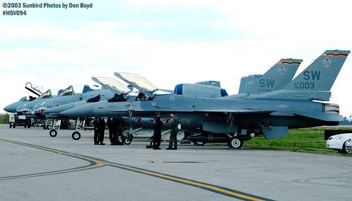 USAF F-16s and A-10As military aviation air show stock photo #3796