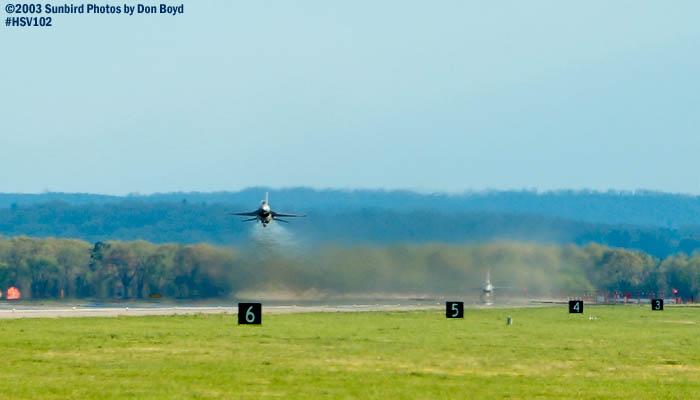 USAF F-16 Falcons military aviation air show stock photo #3808