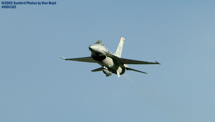 USAF F-16 Falcon AF98-0003 military aviation air show stock photo #3809