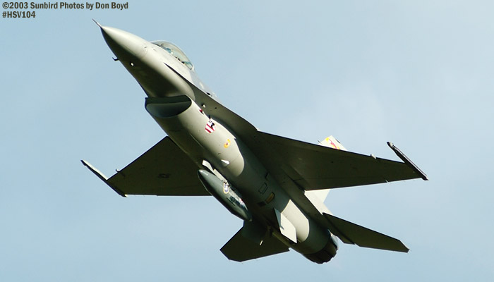 USAF F-16 Falcon AF98-0003 military aviation air show stock photo #3810