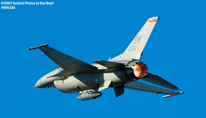 USAF F-16 Falcon AF98-0003 military aviation air show stock photo #3811