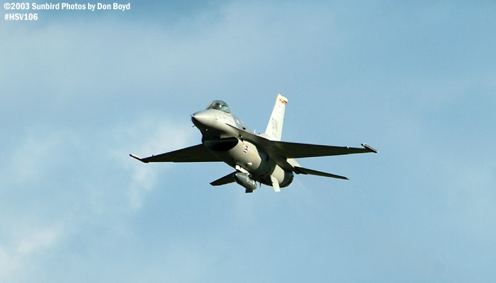 USAF F-16 Falcon AF97-0111 military aviation air show stock photo #3814