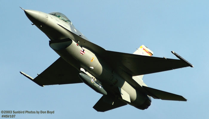USAF F-16 Falcon AF97-0111 military aviation air show stock photo #3815