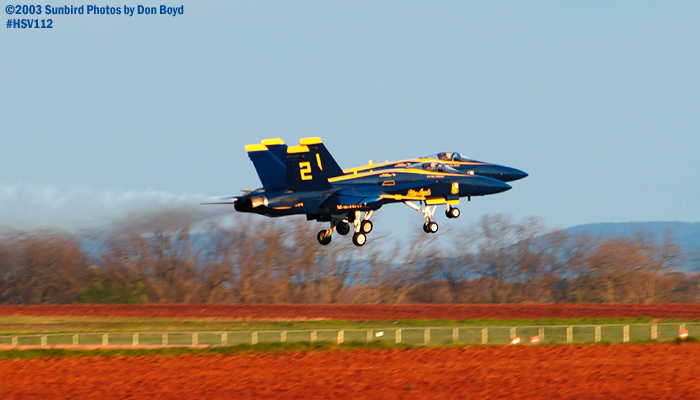 USN Blue Angels F/A-18 Hornets #1 and #2 military aviation air show stock photo #3826