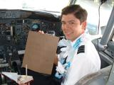 April 23 2003...F/O Mark passes one year of probation as an AQ Pilot!