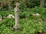 One of the many statues in the garden.