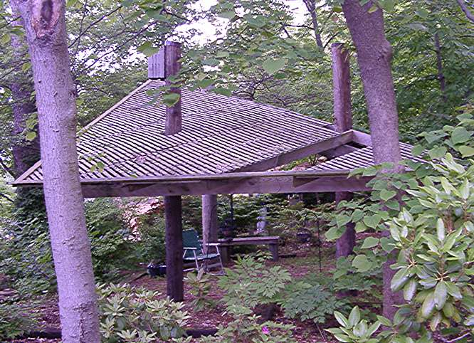 Gazebo or lath house—whatever it is, it is neat.