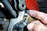 I also grease the bushing on the left caliper for the anti-dive system