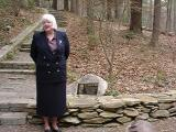 Janet Flick and the memorial plaque.