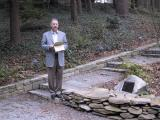 Jim Holmes, the committee chair and MC at the dedication