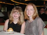 Linda and Kaitlin, at dinner Thursday, the second formal evening