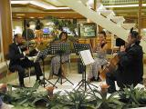 String quartet provide soothing sounds in the atrium