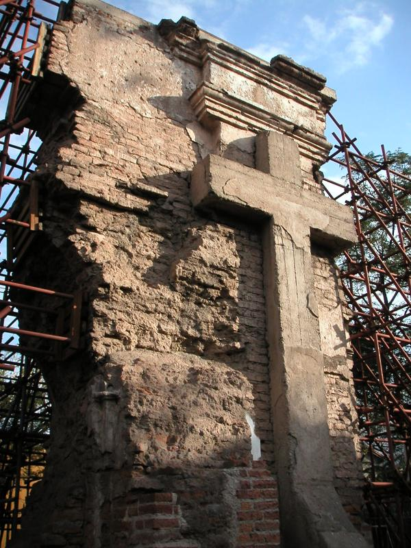 Church remains after 1861 earthquake