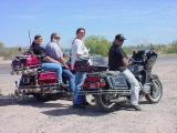bikers resting on the beeline highway