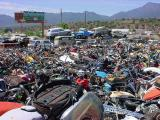left all bikes in Rye Arizona looking west