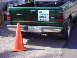 orangecone and green truck club at home