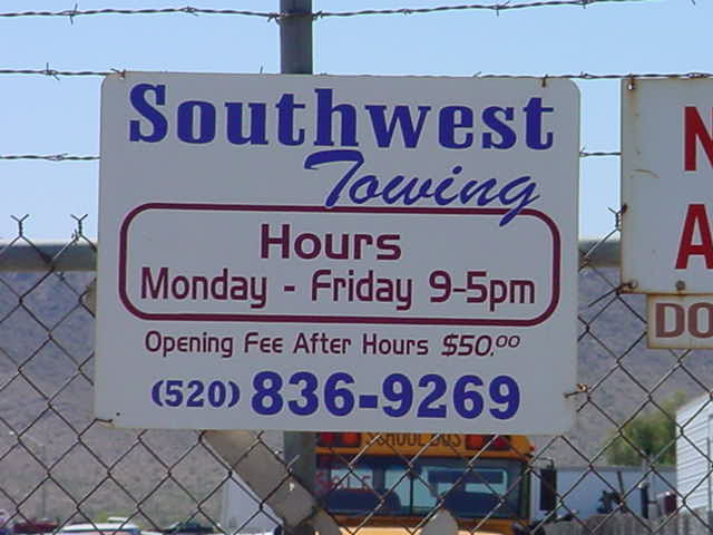 Southwest Towing <br>520-836-9269