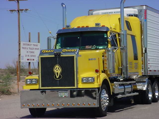 beautiful yellow <br>Gray Ghost truck