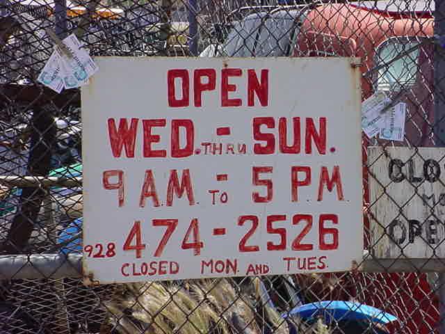 hours at all bikes in Rye Arizona
