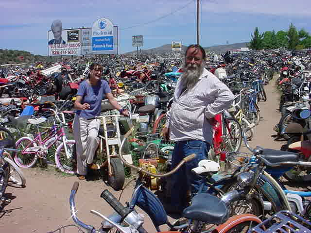 Ron and Cori at all bikes in Rye Arizona