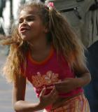 Aboriginal girl starting to dance