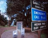 Hecker Pass Peak in Santa Cruz, CA