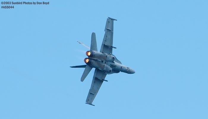 U.S. Navy F/A-18 Hornet military aviation air show stock photo #4260