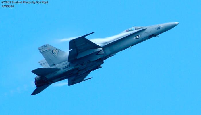 USN F/A-18 Hornet military aviation air show stock photo #4262