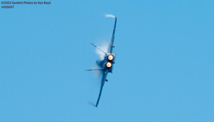 USN F/A-18 Hornet military aviation air show stock photo #4265