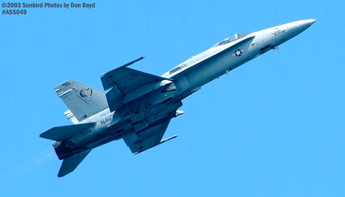 USN F/A-18 Hornet military aviation air show stock photo #4273