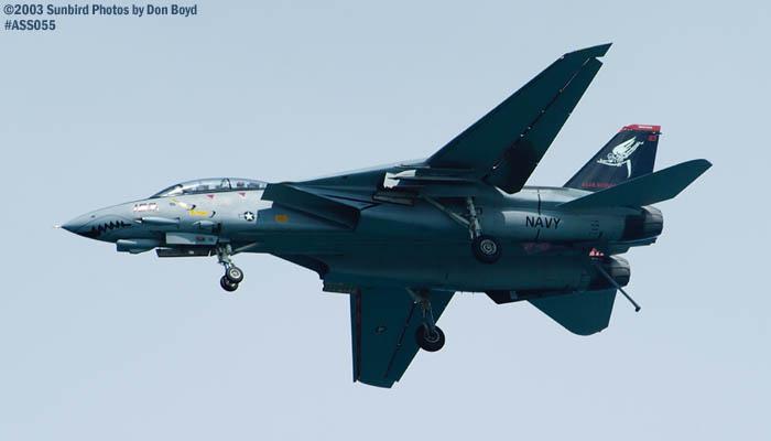 USN F-14D Tomcat #163414 military aviation air show stock photo #4289