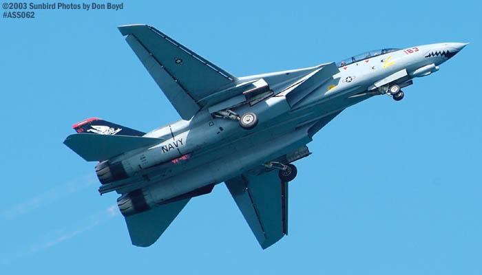 USN F-14D Tomcat #163414 military aviation air show stock photo #4303
